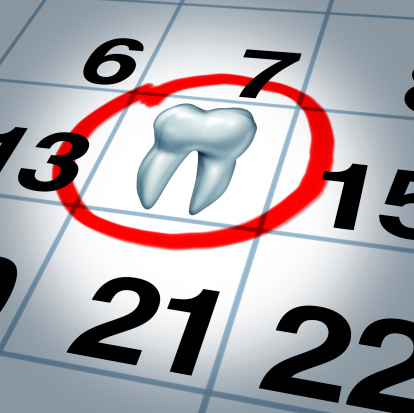 Calendar with appointment marked at Cameo Dental Specialists